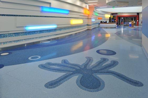terrazzo emblem lobby