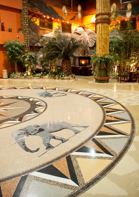 terrazzo lobby emblem